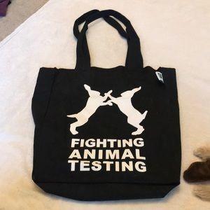 Lush fight animal testing reusable canvas bag